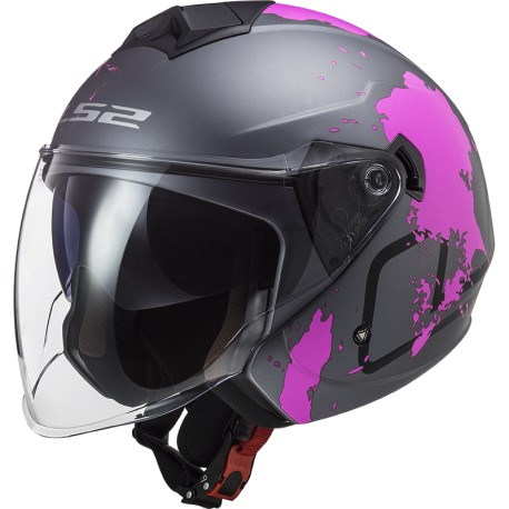 CASCO LS2 TWISTER II OF573 XOVER TITANIUM PURPLE MATT