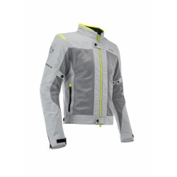 GIACCA ACERBIS CE RAMSEY VENTED GREY YELLOW FLUO