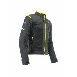 GIACCA ACERBIS CE RAMSEY VENTED BLACK YELLOW FLUO