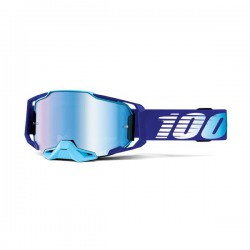 MASCHERA DA CROSS 100% ARMEGA ROYAL CON LENTE BLUE MIRROR