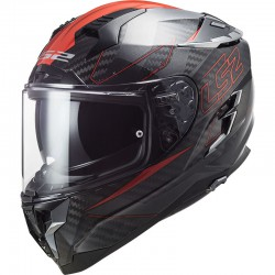 CASCO LS2 CHALLENGER CARBON FF327 FOLD ROSSO